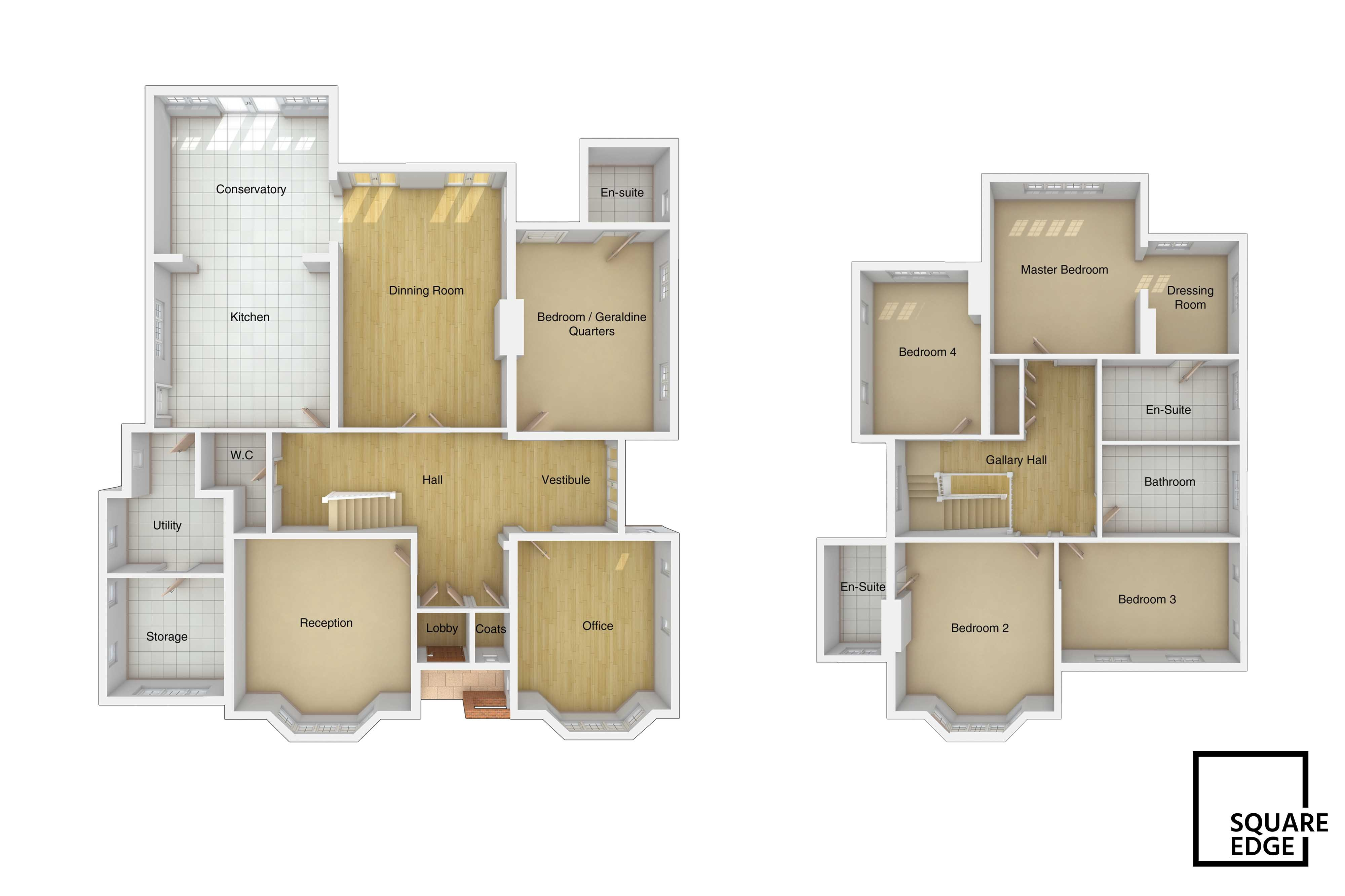 3d floor plans square edge 3d architectural for Floorplans 3d